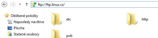 FTP přes průzkumník
