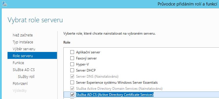 Active Directory Certifikační autorita